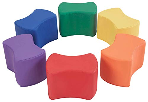 FDP SoftScape Butterfly Stool Modular Seating Set for Toddlers and Kids