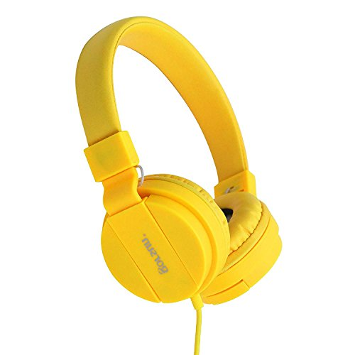 Kids Headphones,On-Ear Comfortable Foldable Headphones for Kids,Lightweight Stereo Headset for Kids Childrens Toddler Girls Boys,Kid Headphones for Cellphone PC Laptop Tablet (Yellow)