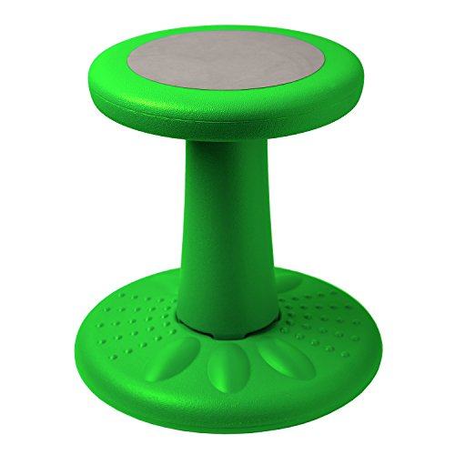 Active Kids Chair – Wobble Chair Toddlers, Pre-Schoolers - Age Range 3-7y – Grades K-1-2 - 14' High – Flexible Seating Classroom - Helps ADD/ADHD - Corrects Posture - Green