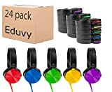 Bulk Headphones for Classroom, Pack of 24 Wired Head Phones for Kids. School Supplies for Teachers Elementary to College Students. School Headphones Pack Mixed Set