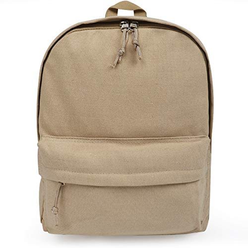 FITMYFAVO Basic Cappucino Backpack Unisex with Multi-Pockets | School Bookbag Daypack Travel Bag (Cappuccino)