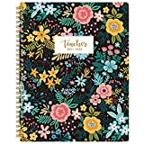 2021-2022 Teacher Planner - Weekly & Monthly Lesson Plan Book, July 2021 - June 2022, 8' x 10', Academic Planner with Twin-Wire Binding for Teachers