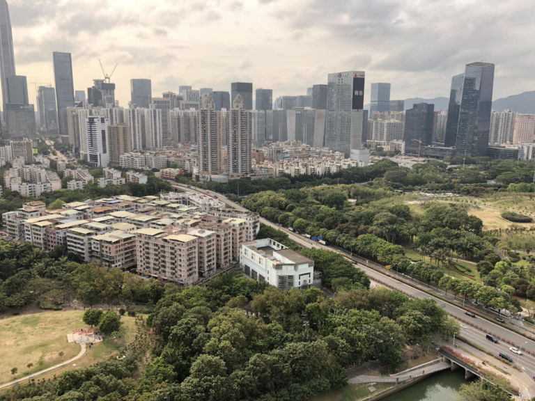 Shenzhen's many open rooftops offer views of a modern, green, and easily navigable city