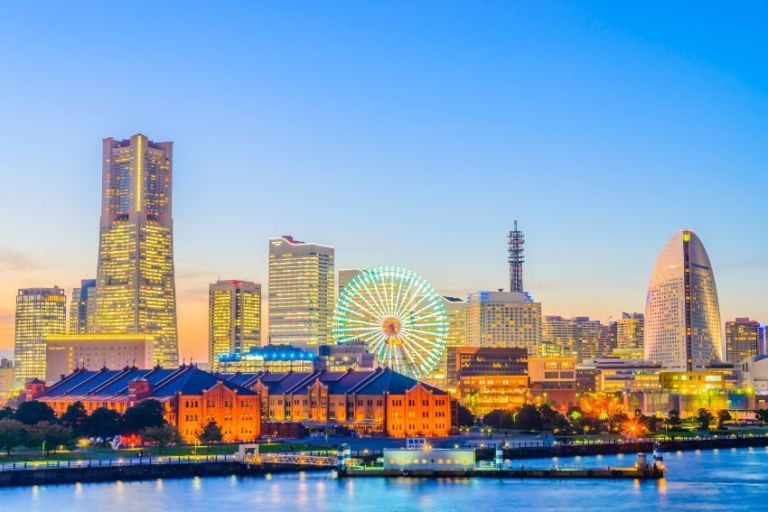 Yokohama skyline city