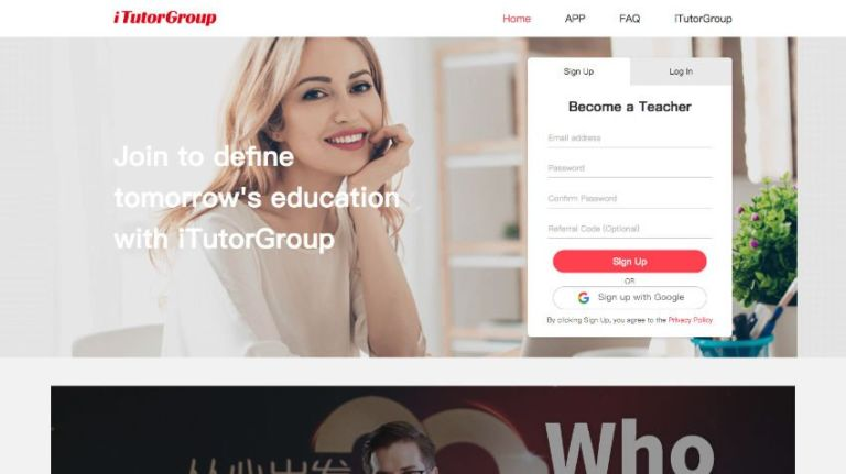 iTutorGroup Teacher Website