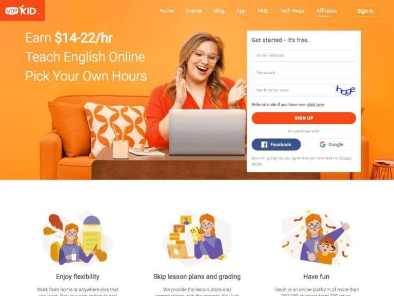 VIPKID Teacher Website