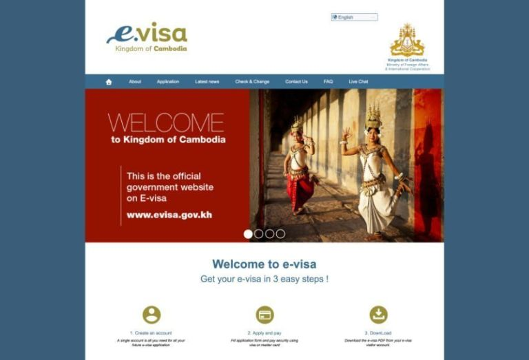 Apply for an E-visa on the official website (evisa.gov.kh)
