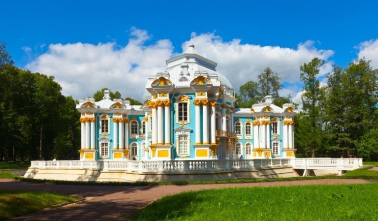 The Hermitage Pavilion in St. Petersburg, Russia