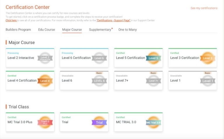 The VIPKID certification center
