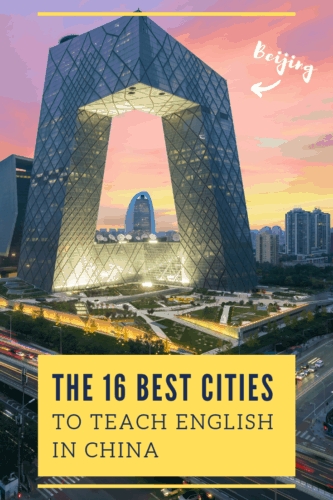 The 16 Best Cities to Teach English in China, Pinterest Image