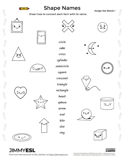 Shape Names – ESL Vocabulary Worksheets & Flashcards JIMMYESL
